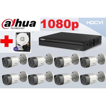 Kit Dahua Disco 8 Camaras 1080p Alta Resolucion Hdcvi P2p