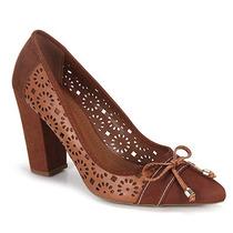 Sapato Scarpin Feminino Desmond - Caramelo