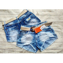 Shorts Jeans Feminino Cintura Alta Hot Pants Destroyed Anita