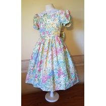 Vestido Importado Nena Bautismo Fiesta 9-10 Años