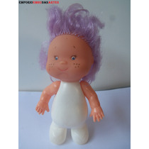 Antiga Boneca Plástico Bolha Cabeça De Borracha 16 Cm Cx 04