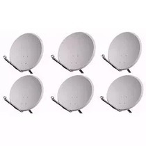 6 Antenas Ku 60 Cm Com 6 Lnb Simples Sem Fio