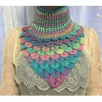 Cuello Bufanda Pashmina Tejido Crochet