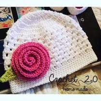 Gorros A Crochet O Conjuntos Para Bebe Hechos A Mano