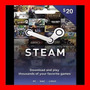 Tarjeta Steam Wallet Card $20 Usd Oferta !!!