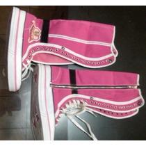 Tenis Botitas Dama Num 6 Mex Color Rosa Nuevas!