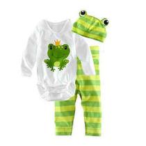 Pijama Bebê 3 Peças Novo Importdo Recém Nascido