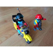 Playmobil Equipo De Television Noticias Motocicleta 3847 .