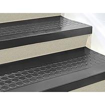 Piso O Paso De Caucho Negro Para Escalera De 182cmx30cm