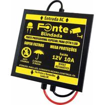 Fonte Blindada 12v 10a Quadrada Micro Led Cftv Wireless