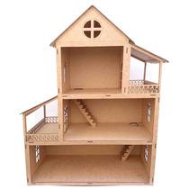 Casa De Bonecas - Mdf Crú - Polly - Brinquedo - Meninas 60cm
