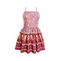 Vestido Franzido Rodado - Caveiras - Pp