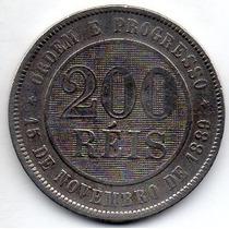 Moeda 200 Reis 1889 Ref 045