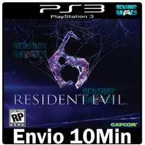Resident evil 6 Ps3 Psn Midia Digital Play3 Português Pt Br