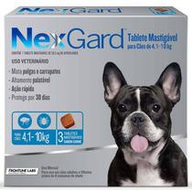 Nexgard Pacote 2 Cxs 4,1 A 10 Kg E 1 Cx De 10 A 25 Kg