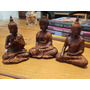 Trio De Budas Indiano Em Resina. Maravilhoso!