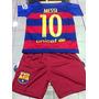 Conjunto Niños Camiseta Short Barcelona Messi Oferta