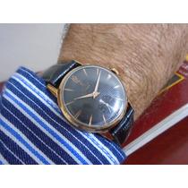 Relógio Lanco Anos 60 Corda Manual Folhado Ouro Calibre 1307