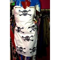 Vestido Intervenido Punk Gothic Strapless