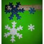 Formitas En Goma Eva Con Gliters, Copos De Nieve 7 Cm De Dia