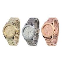 Lote De 10 Relojes Geneva Metálicos Rl0009. Mayoreo
