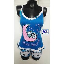 Pijamas Mujer En Short, Algodón Alumbra Oscuridad ( Hstyle )