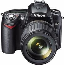 Camera Nikon D90 + Lente 18x55 + Bateria + Carregador Top