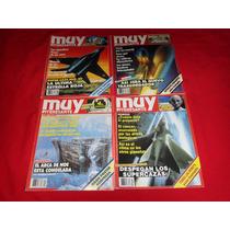 Muy Interesante - Lote De 4 Revistas De Los Años 80