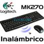 Combo Teclado + Mouse Inalambrico Wireles Logitech Mk270