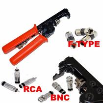 Crimpeadora Cable Coaxial Bnc/rca - Rg-6/rg-59 Compresión