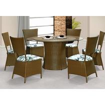 Conjunto De Mesa + 4 Cadeiras Revestida Em Fibra Sintética