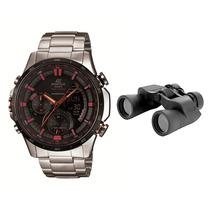 Relógio Masculino Casio Edifice + Binóculo Para Viagem Com