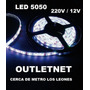 Tira Luz Led Blanca 5mts 300 Led 5050 Para 12 Y 220v