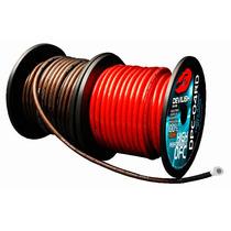Rollo Cable Para Fuente Calibre 10 Rojo/cristal 50 Metros