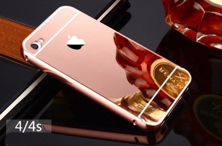 ca1ff868a Capa Case Bumper Alumínio Espelhada Celular Iphone 4 4s Top - R  29 ...