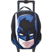 Mochila Com Rodinha Grande Batman Em 3d Escolar Original