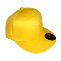 Gorras Planas Flex Color Amarillo Cerradas Unicolor