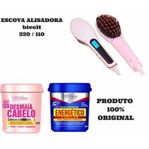 Escova Alisadora + Energético + Desmaia Cabelo Forever Liss