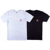 Kit Camiseta Masculina Element Skate Week Day Preta E Branca