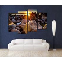 Paisaje Amanecer En Bastidor Tela Canvas De 180x120 Cm Exele