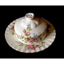Mantequera, Porcelana Royal Albert, Moss Rose .