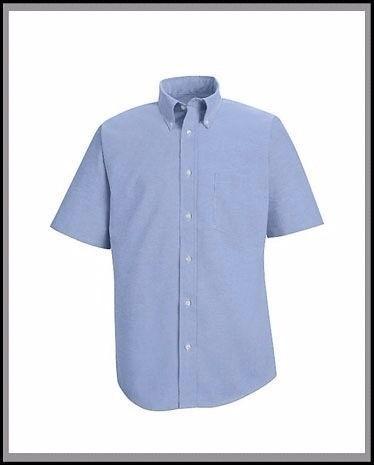 ba7b049e4c Camisas Oxford Manga Corta Para Caballeros. Blanco Y Azul - Bs. 60.000