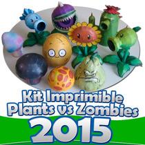 Kit Imprimible Plantas Contra Zombies Todo Fiesta Nuevo 2015