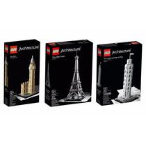 Kit 3 Lego Arquitectura Torre Eiffel Big Ben Y Torre Pisa