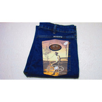 Calça Jeans Country Masc Azul Stoned C/ Licra Estilo Country
