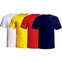 Camisetas Lisas Fio 30.1 100% Algodão Várias Cores