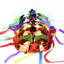 12 Antifaz Plastico Diamantina Boda Batucada Carnaval Dj