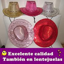Sombrero Gorro Vaquero Vaquera Lentejuelas Premium - Súper!!