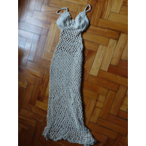 Hermoso Vestido Largo Tejido A Mano Crochet