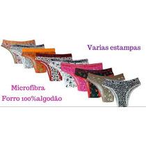 Calcinhas Kit Com 10 Uni Micro Fibra Coton De Algodao Pmg